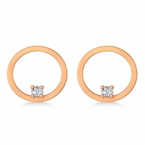 Floating Diamond Hoop Earrings 14k Rose Gold (0.20 ctw)