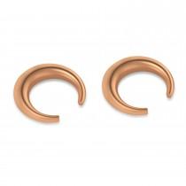 Crescent Moon Horn Earrings 14k Rose Gold