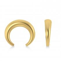 Crescent Moon Horn Earrings 14k Yellow Gold