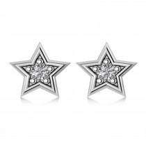Diamond Stars Earrings 14k White Gold (0.10 ct)