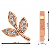 Diamond 3-Petal Leaf Earrings 14k Rose Gold (0.21ct)