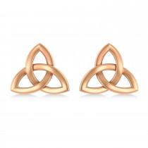 Celtic Knot Stud Earrings 14k Rose Gold