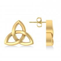 Celtic Knot Stud Earrings 14k Yellow Gold