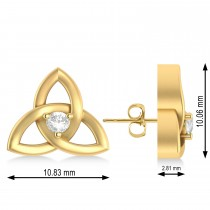 Diamond Celtic Knot Stud Earrings 14k Yellow Gold (0.10ct)