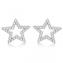 Fancy Star Diamond Earrings in 14K White Gold (0.25ct)|escape