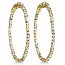 Prong-Set Diamond Hoop Earrings in 14k Yellow Gold (3.00ct)