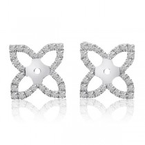 Diamond Accented Butterfly Earring Jackets in 14k White Gold (0.58ct)