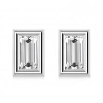 2.00ct Baguette-Cut Lab Grown Diamond Stud Earrings 14kt White Gold (G-H, VS2-SI1)