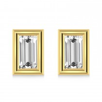 2.00ct Baguette-Cut Lab Grown Diamond Stud Earrings 14kt Yellow Gold (G-H, VS2-SI1)