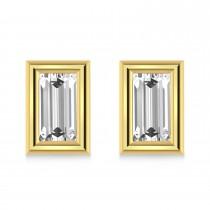 0.75ct Baguette-Cut Lab Grown Diamond Stud Earrings 14kt Yellow Gold (G-H, VS2-SI1)