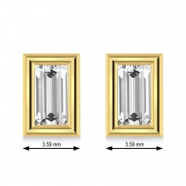 0.50ct Baguette-Cut Lab Grown Diamond Stud Earrings 18kt Yellow Gold (G-H, VS2-SI1)