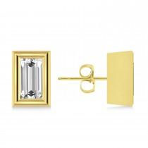 0.75ct Baguette-Cut Lab Grown Diamond Stud Earrings 18kt Yellow Gold (G-H, VS2-SI1)