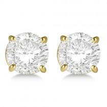 2.50ct. 4-Prong Basket Diamond Stud Earrings 18kt Yellow Gold (G-H, VS2-SI1)