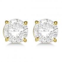 4.00ct. 4-Prong Basket Diamond Stud Earrings 18kt Yellow Gold (G-H, VS2-SI1)