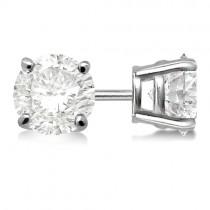 0.33ct. 4-Prong Basket Lab Grown Diamond Stud Earrings 14kt White Gold (G-H, VS2-SI1)