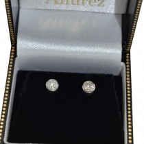 0.50ct. Bezel Set Diamond Stud Earrings Platinum (H-I, SI2-SI3)