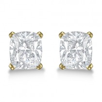 0.50ct. Cushion-Cut Diamond Stud Earrings 18kt Yellow Gold (H, SI1-SI2)