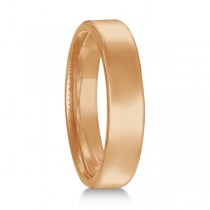 Euro Dome Comfort Fit Wedding Ring Band 14k Rose Gold (4mm)