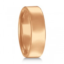 Euro Dome Comfort Fit Wedding Ring Men's Band 14k Rose Gold (6mm)