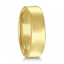 Euro Dome Comfort Fit Wedding Ring Men's Band 18k Yellow Gold (6mm)