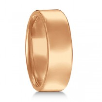 Euro Dome Comfort Fit Wedding Ring Men's Band 18k Rose Gold (7mm)