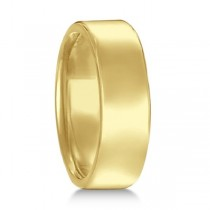 Euro Dome Comfort Fit Wedding Ring Men's Band 18k Yellow Gold (7mm)