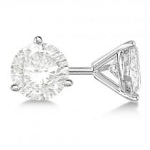 4.00ct. 3-Prong Martini Diamond Stud Earrings Palladium (G-H, VS2-SI1)