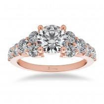 Diamond Engagement Ring Luxury Setting 14k Rose Gold (1.00ct)