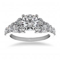 Diamond Engagement Ring Luxury Setting 14k White Gold (1.00ct)