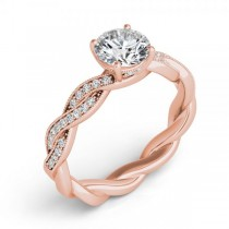 Diamond Infinity Twisted Engagement Ring 14k Rose Gold (0.22ct)