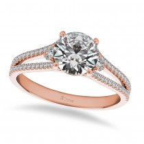 Diamond Split Shank Engagement Ring 14k Rose Gold (1.00ct)