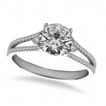 Diamond Split Shank Engagement Ring 14k White Gold (1.00ct)