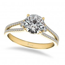 Diamond Split Shank Engagement Ring 14k Yellow Gold (1.00ct)