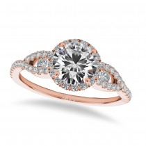 Diamond Accented Halo Engagement Ring 14k Rose Gold (1.29ct)