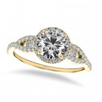 Diamond Accented Halo Engagement Ring 14k Yellow Gold (1.29ct)