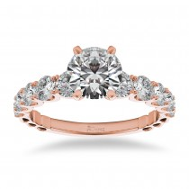 Graduated Diamond Engagement Ring 14k Rose Gold (1.00ct)
