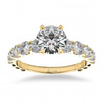 Graduated Diamond Engagement Ring 14k Yellow Gold (1.00ct)