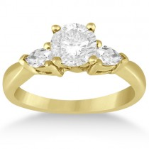 Three Stone Pear Shape Diamond Engagement Ring 14k Yellow Gold (0.50ct)