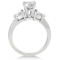 Three Stone Pear Shaped Lab Diamond Engagement Ring 18k White Gold (0.50ct)