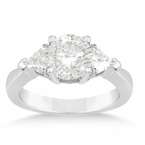 Diamond Trilliant Three Stone Engagement Ring 14k White Gold (0.70ct)