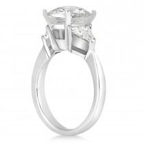 Diamond Trilliant Three Stone Engagement Ring Platinum (0.70ct)