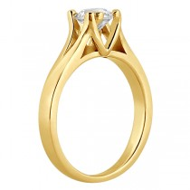 Double Prong Trellis Engagement Ring Setting in 14k Yellow Gold