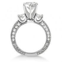Vintage Three-Stone Diamond Engagement Ring Palladium (1.00ct)