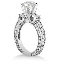 Vintage Three-Stone Diamond Engagement Ring Platinum (1.00ct)
