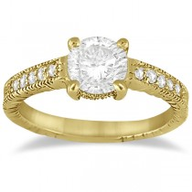 Antique Diamond Vintage Engagement Ring Setting 14k Yellow Gold (0.20ct)