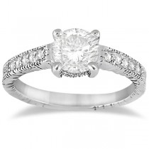 Antique Diamond Vintage Engagement Ring Setting Platinum (0.20ct)