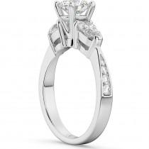 Three Stone Pear Cut Lab Grown Diamond Engagement Ring 14k White Gold (0.51ct)