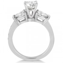 Three Stone Pear Cut Lab Grown Diamond Engagement Ring Platinum (0.51ct)