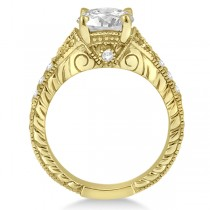 Antique Style Art Deco Diamond Engagement Ring 18k Yellow Gold (0.33ct)