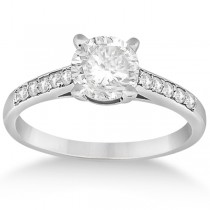 Cathedral Pave Diamond Engagement Ring Setting Palladium (0.20ct)
